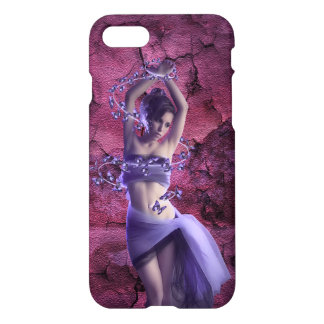 Beautiful elegant purple mysterious Lady iPhone 7 Case