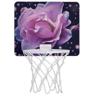 beautiful elegant stylish flower | purple rose mini basketball hoop