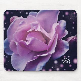 beautiful elegant stylish flower | purple rose mouse pad