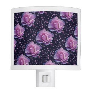 beautiful elegant stylish flower | purple rose night light