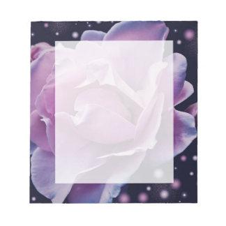 beautiful elegant stylish flower | purple rose notepad