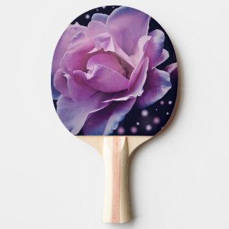 beautiful elegant stylish flower | purple rose ping pong paddle