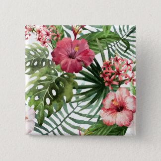 Beautiful & Elegant Tropical Floral | Pin Button
