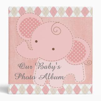 Beautiful Elephant Baby Shower Custom Photo Album Vinyl Binder