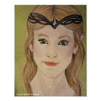 Beautiful Elf Princess by Carol Zeock Poster