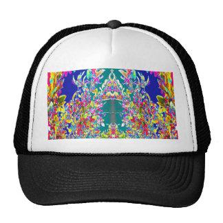 Beautiful EMBLEM of joy peace happiness prosperity Hats
