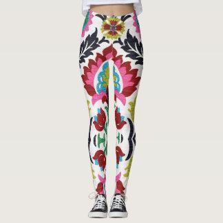 Beautiful embroidery ethnic designs leggings