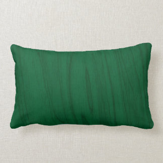 Beautiful Emerald Green Wood Texture Lumbar Pillow