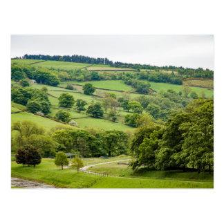 Beautiful English Landscape Yorkshire Dales Postcard
