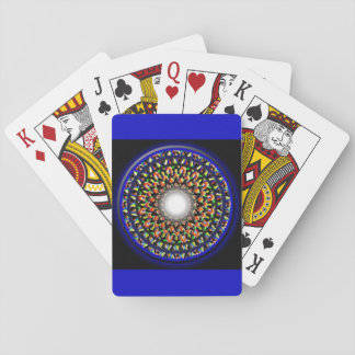 Beautiful Ethnic Mandala Designer, Blue Multicolor Playing Cards