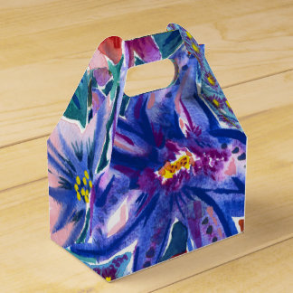 Beautiful Exotic Floral Watercolor Favour Box