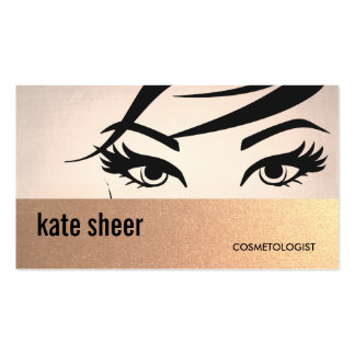 Beautiful Eyelashes and Brows Cosmetologist Business Card