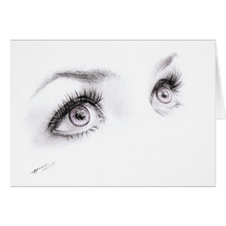 Beautiful eyes drawing minimalistic Greeting card