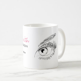 Beautiful eyes Long lashes Lash Extension Coffee Mug