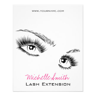 Beautiful eyes Long lashes Lash Extension Flyer