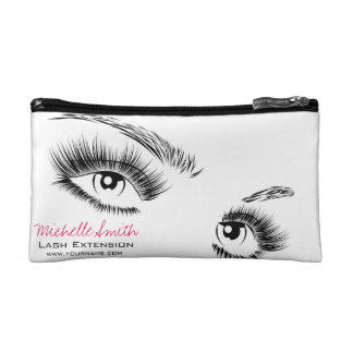 Beautiful eyes Long lashes Lash Extension Makeup Bag