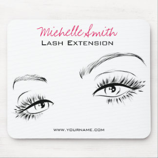 Beautiful eyes Long lashes Lash Extension Mouse Pad
