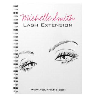 Beautiful eyes Long lashes Lash Extension Notebook