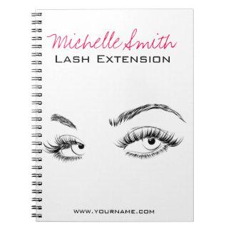 Beautiful eyes Long lashes Lash Extension Notebooks