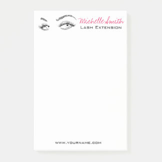 Beautiful eyes Long lashes Lash Extension Post-it Notes