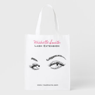 Beautiful eyes Long lashes Lash Extension Reusable Grocery Bag