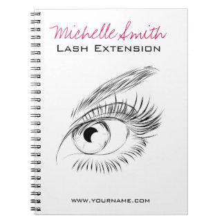 Beautiful eyes Long lashes Lash Extension Spiral Notebook