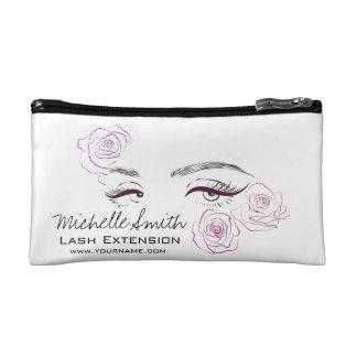 Beautiful eyes Long lashes Roses Lash Extension Cosmetic Bags