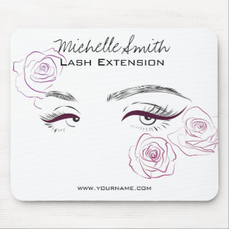 Beautiful eyes Long lashes Roses Lash Extension Mouse Pad