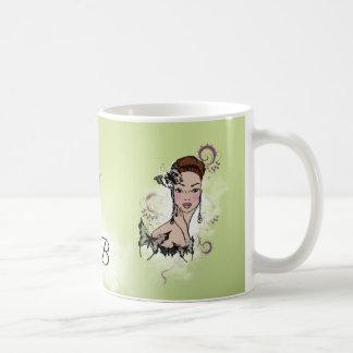 Beautiful Face Fashion Illustration Coffee Mug