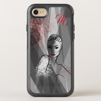 Beautiful Face Fashion Illustration OtterBox Symmetry iPhone 8/7 Case