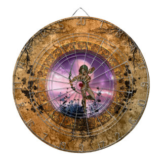 Beautiful fairy with arrow and bow dart boards