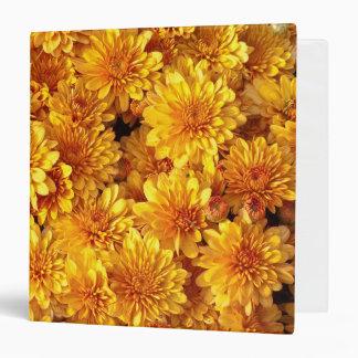 Beautiful Fall Chrysanthemum Floral Photo 3 Ring Binder