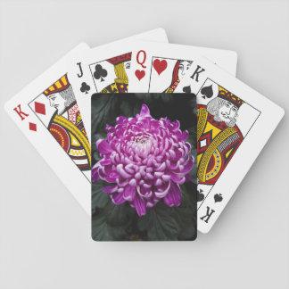 Beautiful Fall Chrysanthemum Floral Photo Poker Deck