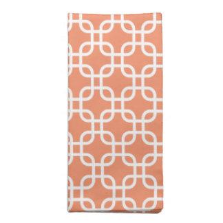 Beautiful Fall Orange Links Pattern Cloth Napkin