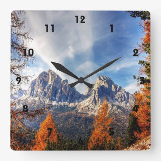 Beautiful Fall Trees Mountain Wall Clock