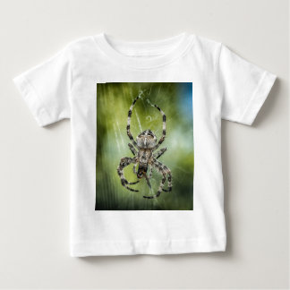 Beautiful Falling Spider on Web Baby T-Shirt
