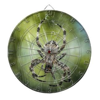 Beautiful Falling Spider on Web Dart Board