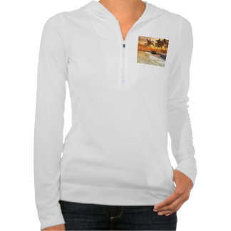 Beautiful fantasy landscape in the sunset hoody