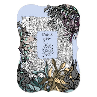 Beautiful Fantasy Spring Thank You Card
