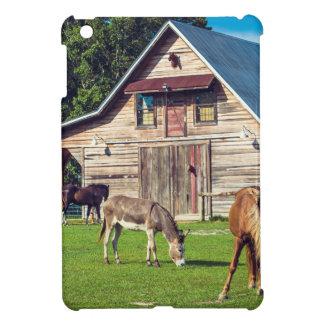 Beautiful Farm Scene with Horses and Barn Cover For The iPad Mini