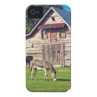 Beautiful Farm Scene with Horses and Barn iPhone 4 Cover