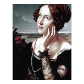 Beautiful Fashion woman Antique painting Personalized Letterhead