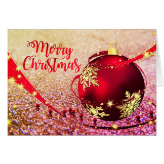 Beautiful Faux Glitter Christmas Card