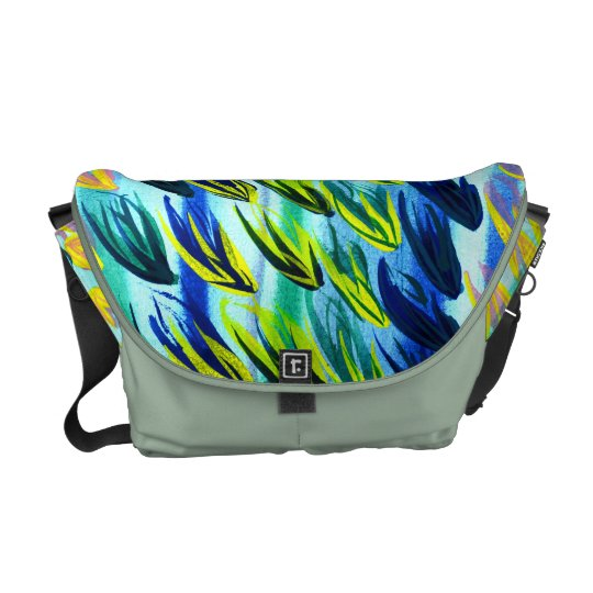 Beautiful Feather Watercolour Messenger Bag