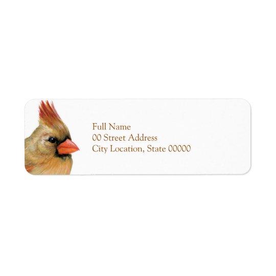 Beautiful Female Cardinal Return Address Label