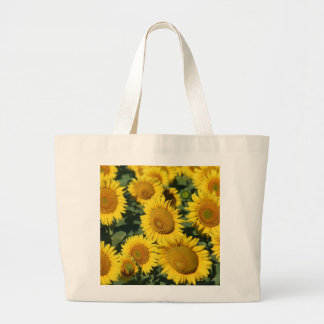 Beautiful Field of Sunflowers Large Tote Bag