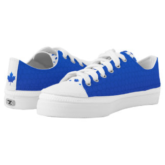 beautiful Finnish Canadian Blue decay Maple leaf Low-Top Sneakers