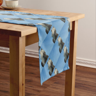 BEAUTIFUL FJORD PONY HORSE STALLION SHORT TABLE RUNNER