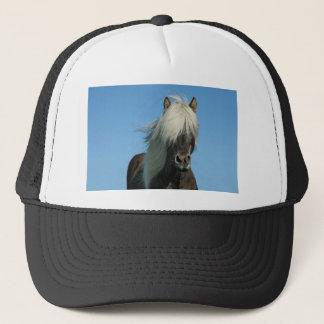 BEAUTIFUL FJORD PONY HORSE STALLION TRUCKER HAT