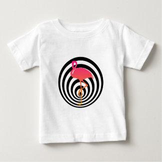 Beautiful flamingo in circles baby T-Shirt